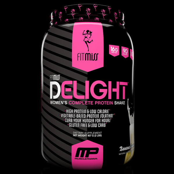 FitMiss, Delight, Women's Premium Healthy Nutrition Shake, Strawberries n' Cream, 1.15lbs, 22 Servings