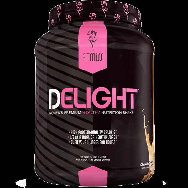 FitMiss Delight, Women's Premium Healthy Nutrition Shake, Chocolate., 1.2lbs, 542g-22 Serves