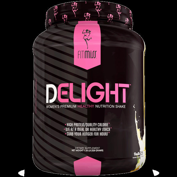 FitMiss, Delight, Women's Premium Healthy Nutrition Shake, Vanilla Chai., 1.13 lbs, 513g-22 Serves