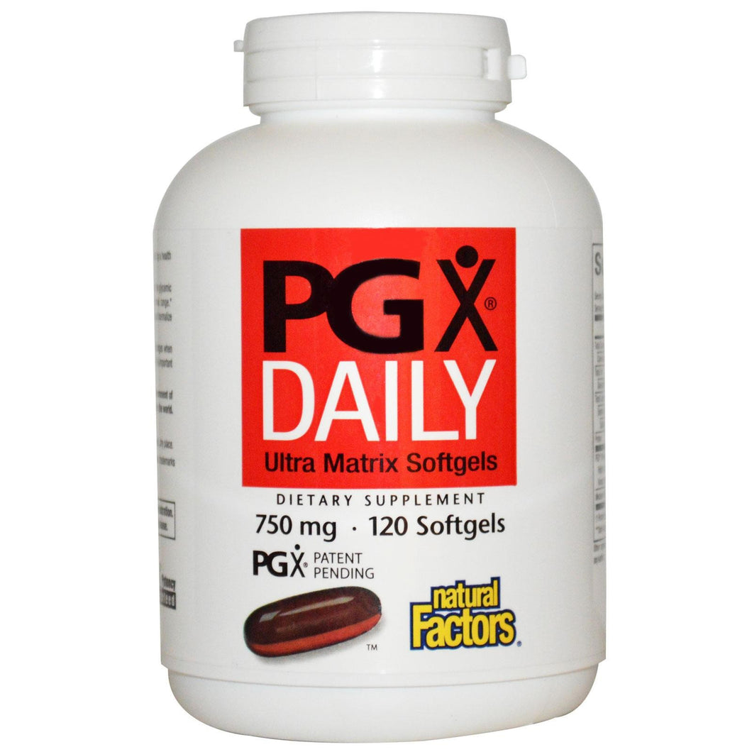 Natural Factors PGX Daily 750mg 120 Softgels - Dietary Supplement