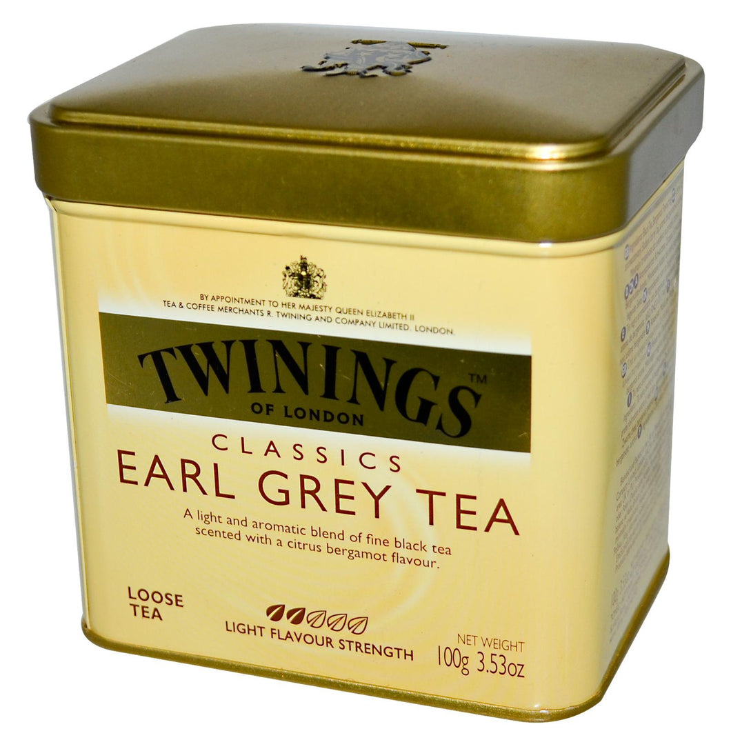 Twinings, Classics, Earl Grey, Loose Tea, 100 Gramss