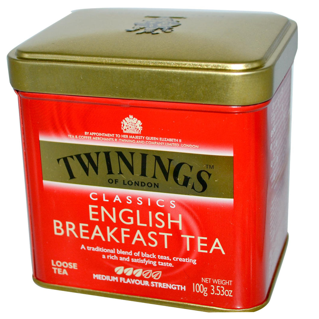 Twinings Classics, English Breakfast, Loose Tea, 100 gramss