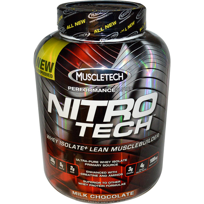 Muscletech Nitro-Tech Whey Isolate + Lean Musclebuilder Chocolate 3.97 lbs 1.8 kgs