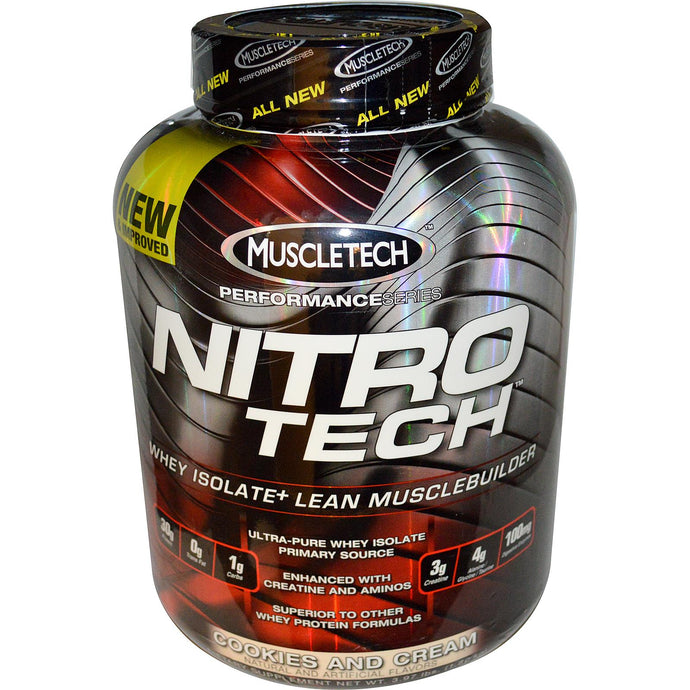 Muscletech Nitro-Tech Whey Isolate + Lean Musclebuilder Cookies & Cream 3.97 lbs 1.8 kgs