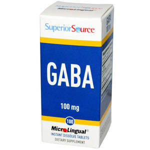 Superior Source, Gaba, 60 MicroLingual Tablets