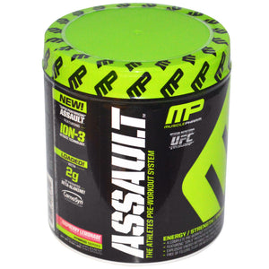 Muscle Pharm, Assault, Pre-Workout System, Raspberry Lemonade, 0.64 lbs, 290 g, - 20 Servess