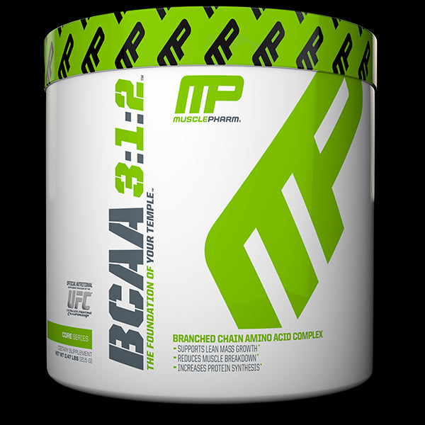 Muscle Pharm, BCAA 3:1:2, Unflavoured, 0.47 lbs, 215 g - 30 Servess