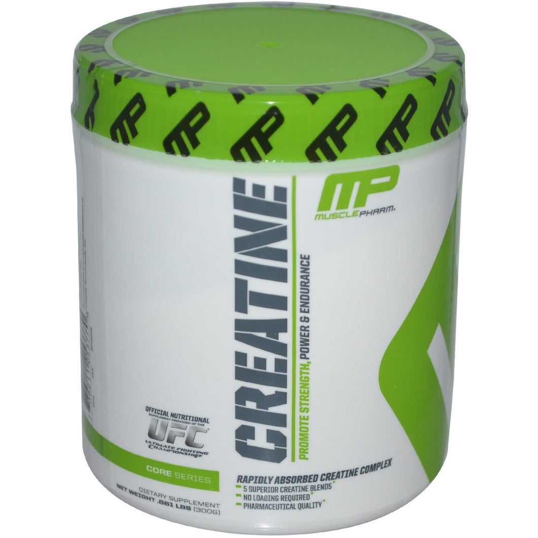 Muscle Pharm, Creatine, Core Series, Rapidly Absorbed Creatine Complex, 0.661 lbs, 300 g, - 30 Servess