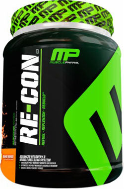 Muscle Pharm Re-Con Advanced Recovery & Muscle Building System Orange Mango 2.64 lbs 1200 g
