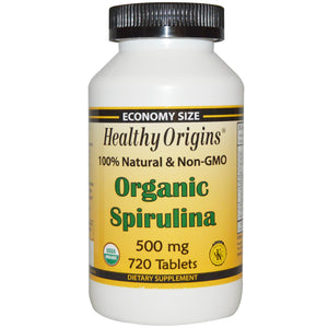 Healthy Origins Spirulina Organic 500mg 720 Tablets