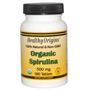 Healthy Origins Spirulina Organic 500mg 180 Tablets