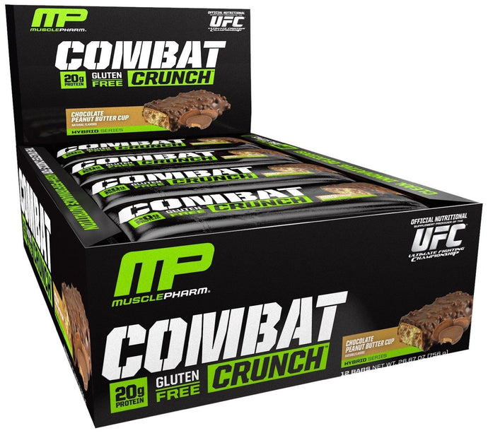 Muscle Pharm, Combat Crunch Bar, Chocolate Peanut Butter Cup, 12 Bars, 63 g Each
