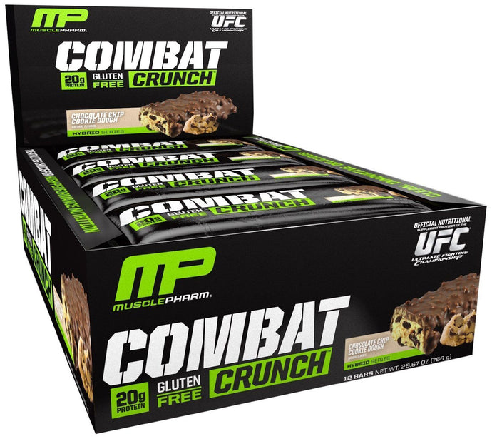 Muscle Pharm, Combat Crunch, Chocolate Chip Cookie Dough, 12 Bars, 63 g Each