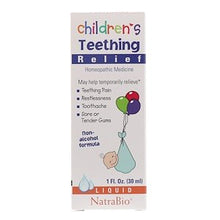 Load image into Gallery viewer, NatraBio, Children's Teething Relief, Non-Alcohol Formula, Liquid, 1 fl oz (30 ml)