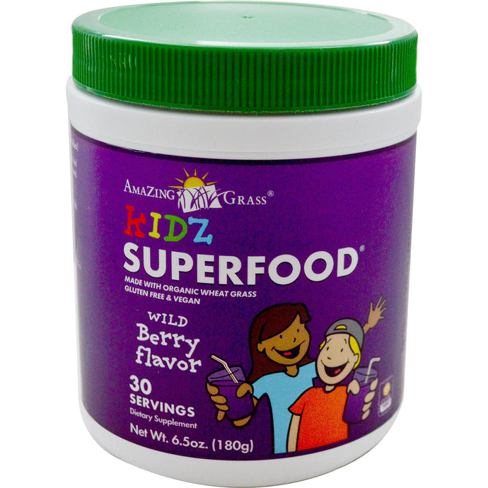 Amazing Grass, Kidz, SuperFood, Wild Berry Flavour, 180 g