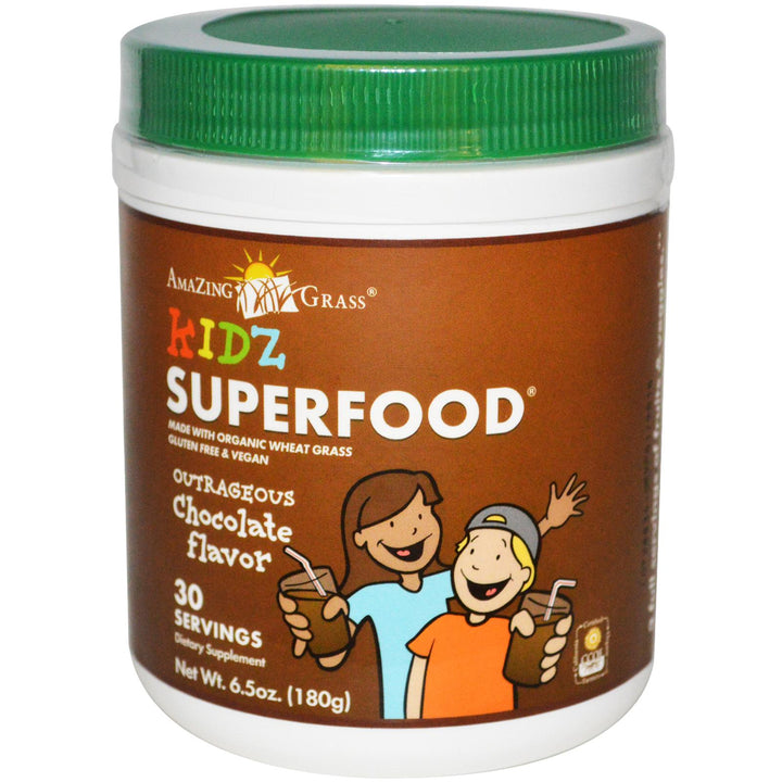 Amazing Grass, Kidz SuperFood, Outrageous Chocolate Flavour, 180 g