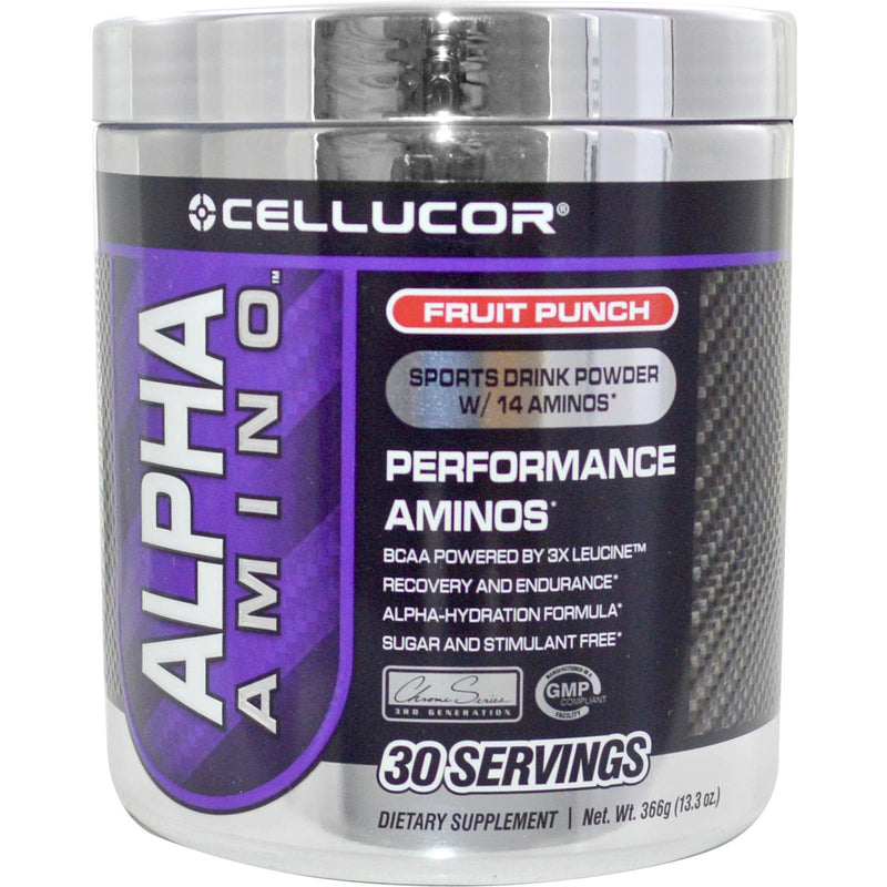 Cellucor, Alpha Amino Sports Drink Powder, Fruit Punch, 366 g
