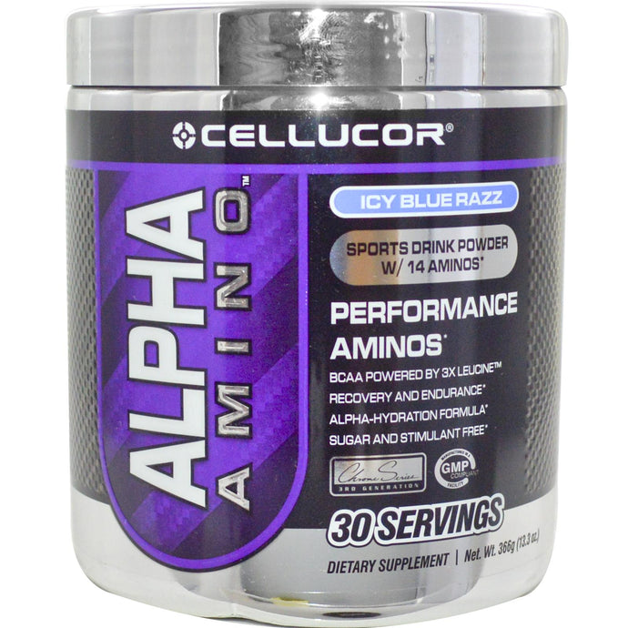 Cellucor, Alpha Amino Sports Drink Powder, Icy Blue Razz, 366 g
