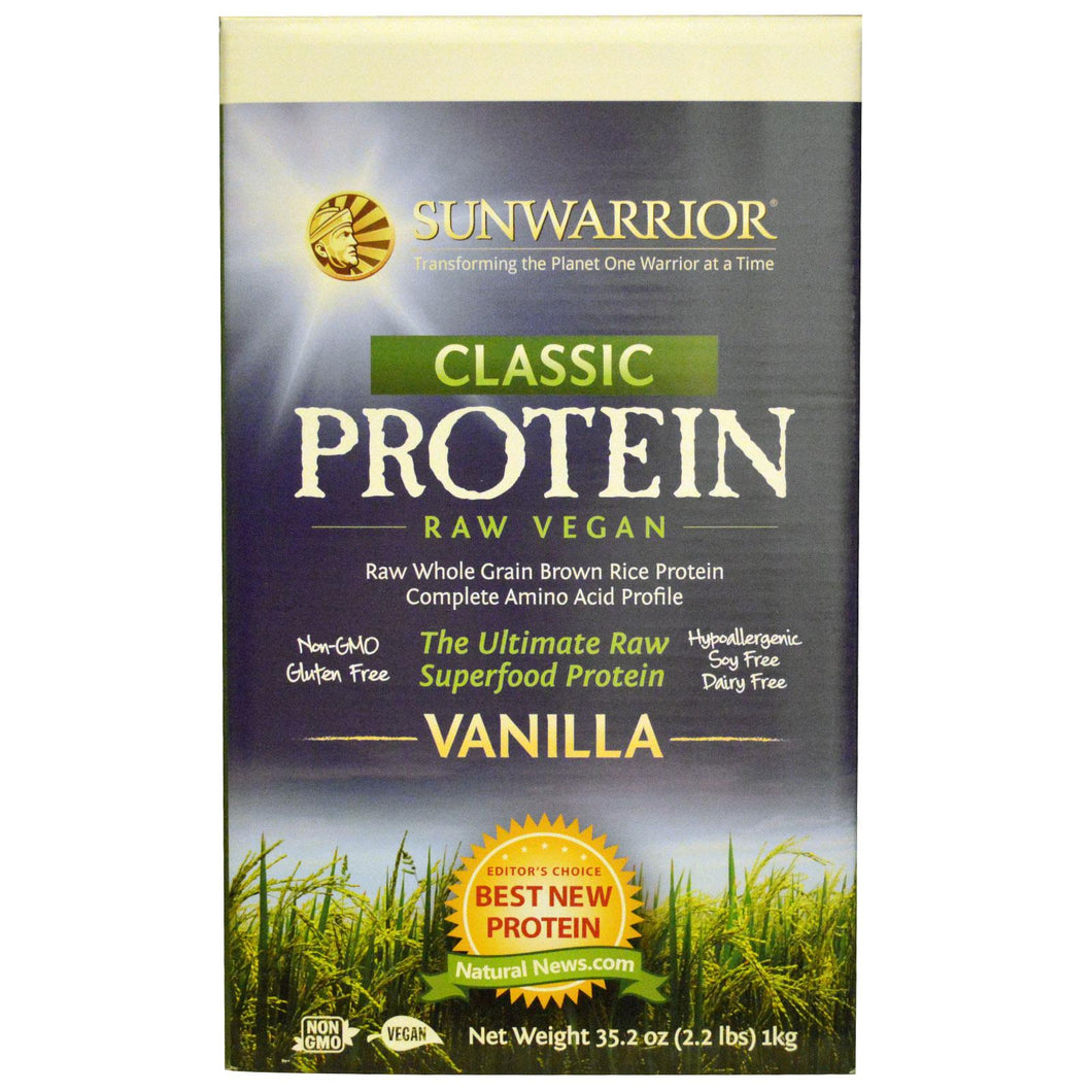 SunWarrior Classic Protein The Ultimate Raw Super Food Protein Vanilla 1 kg