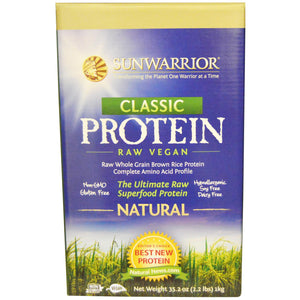 SunWarrior Classic Protein The Ultimate Raw Super Food Protein Natural 1 Kg
