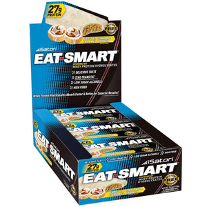 Isatori Eat-Smart Protein Bars Frosted Cinnamon Caramael Crunch 9 Bars 80 g Each