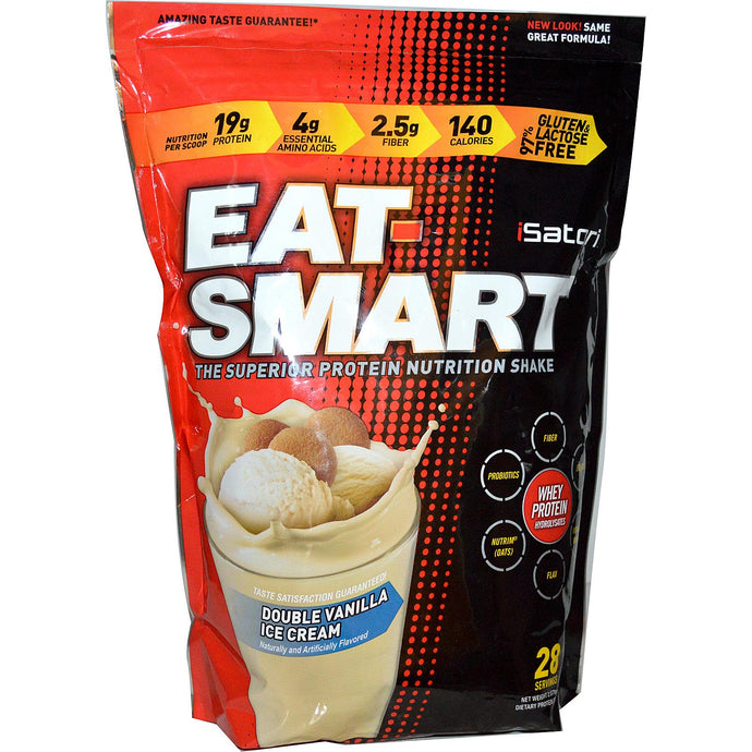 Isatori Eat-Smart Protein Shake Double Vanilla Ice Cream 938g