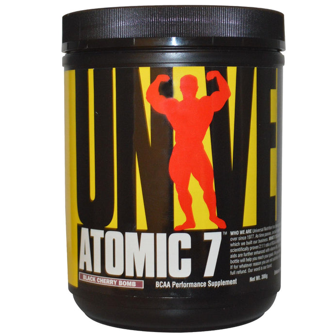 Universal Nutrition, Atomic 7, Cherry, 386 g - BCAA Performance Supplement