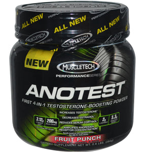 Muscletech, Anotest, Fruit Punch, 284 g - Dietary Supplement