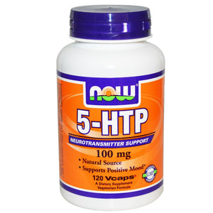 Now Foods 5-HTP 100mg 120 VCaps - Dietary Supplement