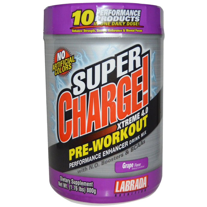 Labrada Nutrition, Super Charge! Xtreme 4.0 Grape, 800 g