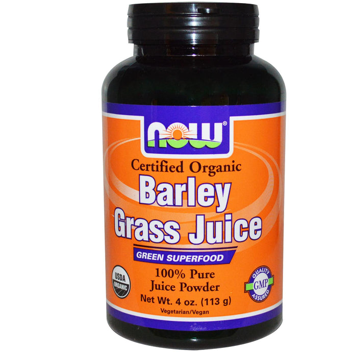 Now Foods, Organic, Barley Grass Juice, 113 g - Vitamin Supplement