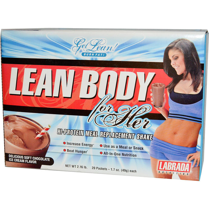 Labrada Nutrition, Lean Body For Her, Chocolate Ice Cream, 20 Pcts, 49 g Each