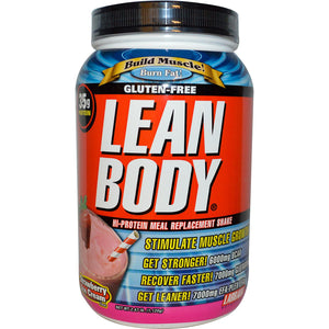Labrada Nutrition Lean Body High Protein Shake Strawberry Ice Cream 1.120Kg - Muscle Supplement
