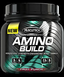 Muscletech, Amino Build, Fruit Punch, 267 g - 30 Serves