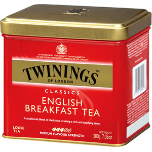 Twinings, Classics, English Breakfast, Loose Tea, 200 g- Health Supplement