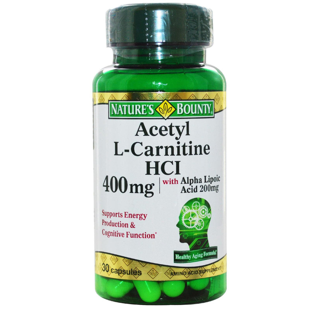 Nature's Bounty, Acetyl-L Carnitine HCI, 400mg, 30 Capsules