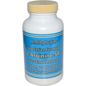 Healthy Origins Arginine Sustained Release 350mg 180 Tablets