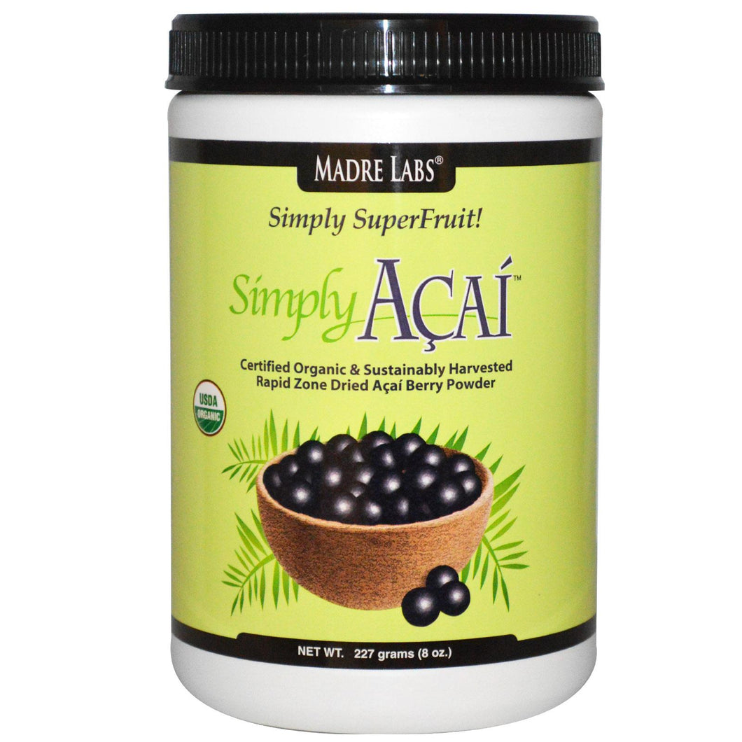 Madre Labs, Simply Organic Acai Powder, 227 g - Natural supplement