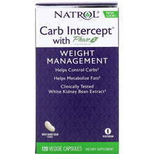 Load image into Gallery viewer, Natrol, Carb Intercept with Phase 2 Carb Controller, 1000 mg, 120 Veggie Capsules