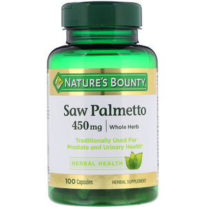 Nature's Bounty, Saw Palmetto, 450 mg, 100 Capsules