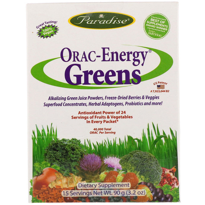 Paradise Herbs, ORAC-Energy Greens, 15 Packets, 6 g Each
