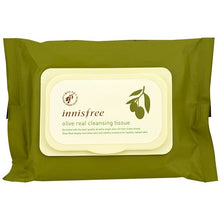Load image into Gallery viewer, Innisfree, Olive Real Cleansing Tissue, 30 Sheets, (150 g)