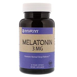 MRM, Melatonin, 3 mg, 60 Vegan Capsules