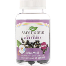 Load image into Gallery viewer, Nature's Way, Sambucus Gummies for Kids Standardized Elderberry, 60 Gummies