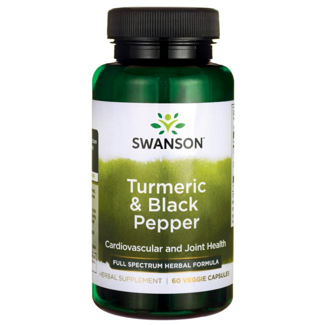 Swanson Premium Turmeric & Black Pepper 60 softgels