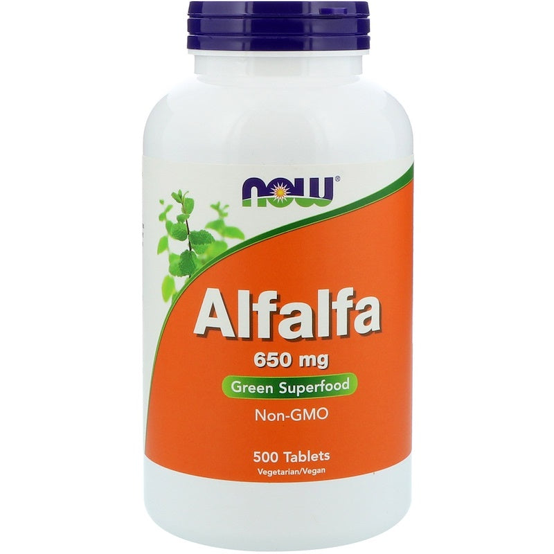 Now Foods, Alfalfa, 650 mg, 500 Tablets