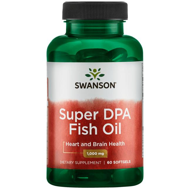 Swanson EFAs OmegaActiv Super DPA Fish Oil 60 Softgels