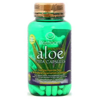LifeStream Biogenic Aloe Vera 120 VCaps - Health Supplement