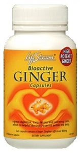 LifeStream, Bioactive Ginger, 60 Capsules