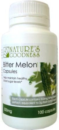 Nature's Goodness, Bitter Melon, 500 mg, 100 Capsules - Supplement